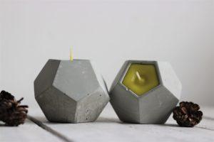 dekoracyjne świeczniki betonowe